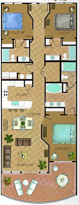 Floor Plans At Our 30a Condos Adagio By Southern