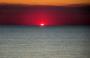 A pretty sunset on the water at Adagio condos in 30-A Florida