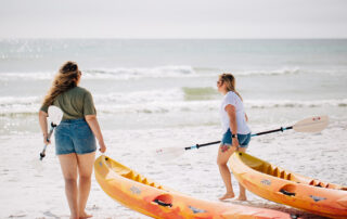 Kayaking in Blue Mountain Beach on 30A