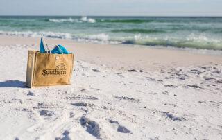 Beach bag on a 30A vacation